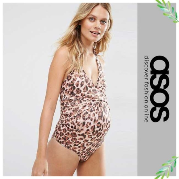 d102eaa789 ASOS Maternity Other - ASOS Maternity Natural Leopard Print Swimsuit 10